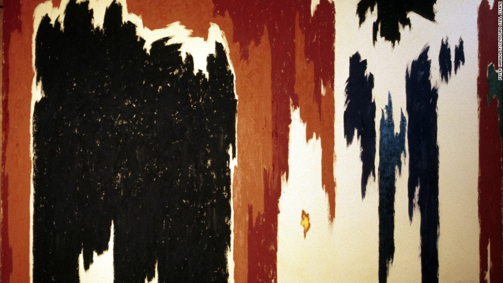 "Toward the end of his career, Still's art started to become even more abstract -- objects lost their shape entirely, as seen in this 1976 work titled ""PH-1023."""