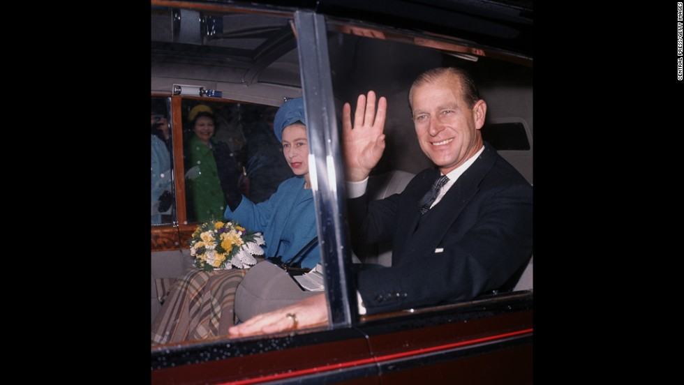 The Queen and Prince Philip leave Westminster Abbey in April 1966.