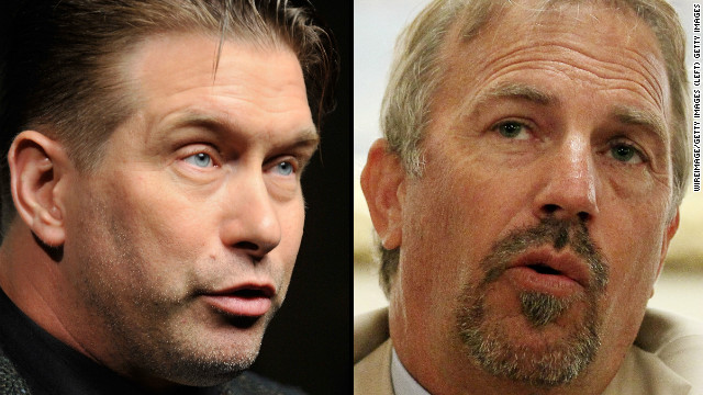 Actors Stephen Baldwin, left, and Kevin Costner are engaged in a legal battle stemming from the BP Gulf oil spill.