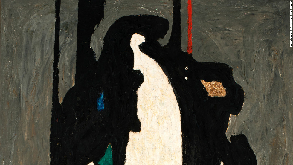 "In the late 1930s and early 1940s in pieces such as ""PH-313"" (1942), the artist starts to move ""closer to his abstract expressionist style,"" says Dean Sobel, director of the Clyfford Still Museum in Denver."