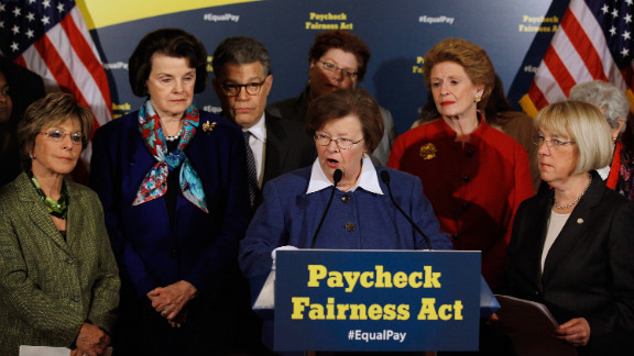Sen. Barbara Mikulski speaks in favor of the Paycheck Fairness Act. Republicans voted down a measure to send it to a vote.