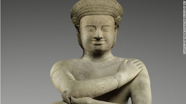 This kneeling figure at the Metropolitan Museum of Art was estimated to have been carved around  921 to 945.