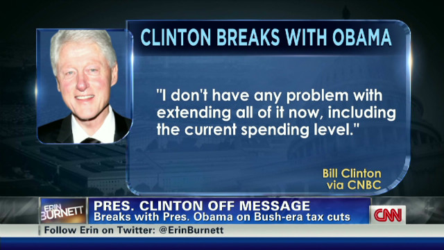 Bill Clinton's comments on Bush tax cuts