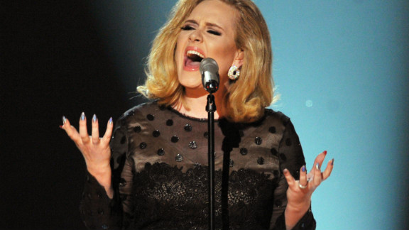 Adele wore four pairs of Spanx to the 2012 Grammys. She had to take off two pairs before her performance.