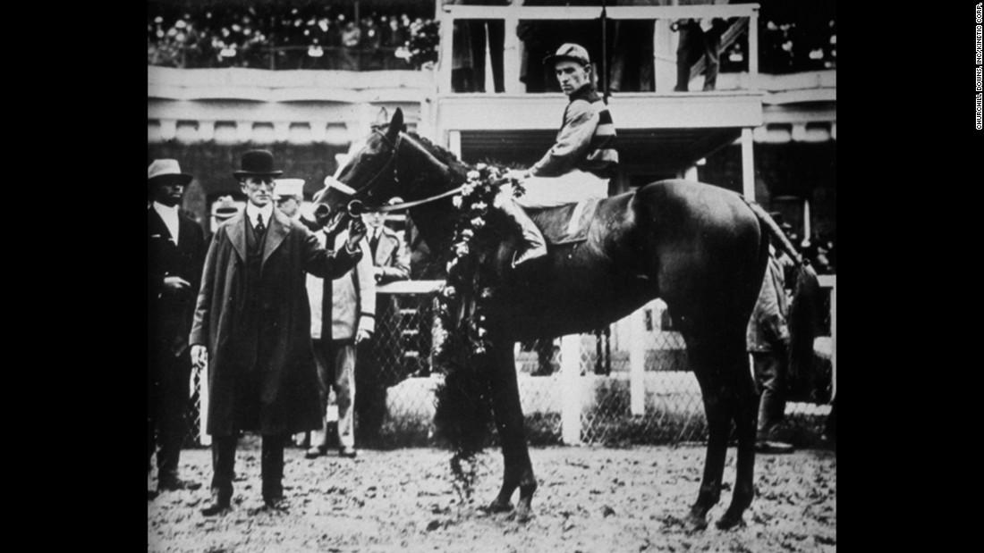 Sir Barton was the first horse to earn the Triple Crown of Thoroughbred Racing, as it would come to be known, by winning the Kentucky Derby, Preakness Stakes and Belmont Stakes in 1919.