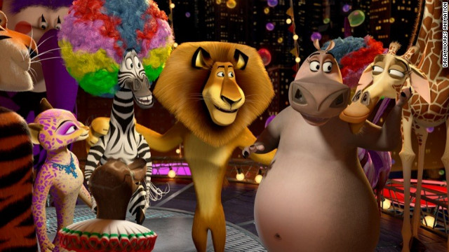 "A still from ""Madagascar3: Europe's Most Wanted."""