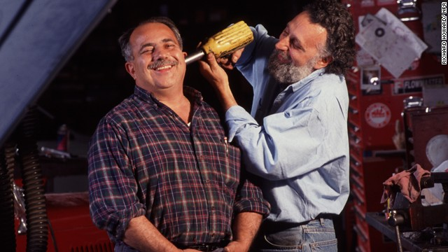 "Tom and Ray Magliozzi (aka Click and Clack, the Tappet Brothers) of NPR's ""Car Talk."""