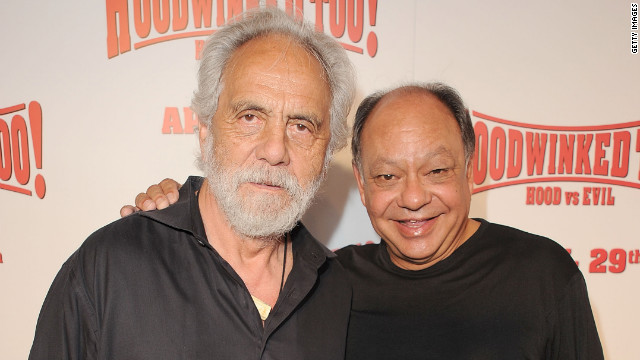 LOS ANGELES, CA - APRIL 16: Actors Tommy Chong and Cheech Marin attend the HOODWINKED TOO! HOOD vs EVIL Premiere Hosted by Heidi Klum, Maurice Kanbar and Harvey Weinstein at the Pacific Theaters at The Grove on April 16, 2011 in Los Angeles, California. (Photo by Jason Merritt/Getty Images)