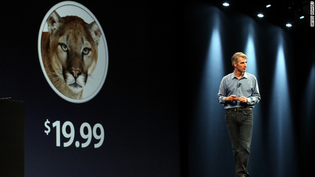 Apple vice president Craig Federighi  focused on innovations for Mountain Lion at last month's WWDC.