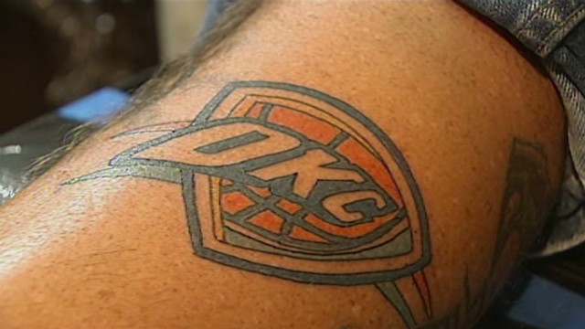 OKC Thunder fans ink up for NBA Finals
