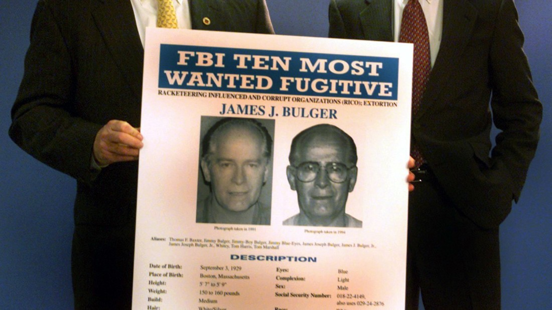 BOSTON - AUGUST 19: Special Agent in Charge Barry Mawn & US Attorney General Donald Stern hold a press conference naming Whitey Bulger to the FBI's Most Wanted List. (Photo by Wendy Maeda/The Boston Globe via Getty Images)