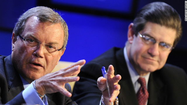 WPP chief exec Sir Martin Sorrell (left) has lost a shareholder vote over pay.