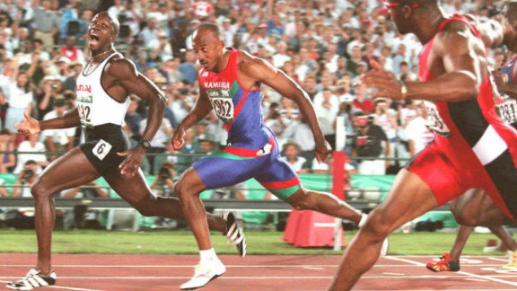 Donovan Bailey, who left Jamaica at the age of 13, won gold representing Canada in the Olympic 100m at  Atlanta in 1996.