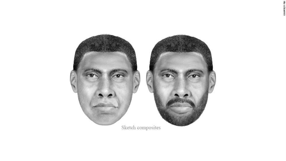 In 2012, the FBI released these enhanced sketches of the man wanted in the death of Morgan Harrington. DNA linked this man to Harrington's death and the 2005 rape of a 26-year-old woman in Fairfax City, Virginia.