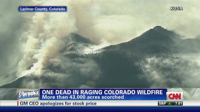 Pictures of a raging wildfire