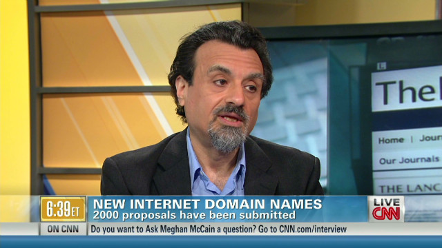 New domain names to expand web