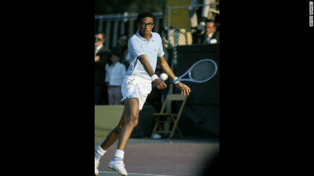 Tennis player Arthur Ashe was a prominent African American tennis player. During his playing career, he won three Grand Slam titles.