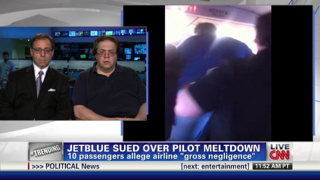 Passengers sue following pilot meltdown