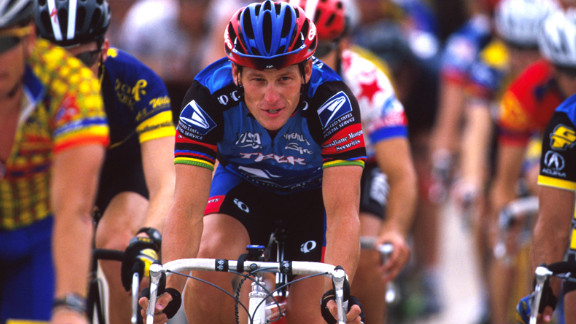 Lance Armstrong rides for charity in 1998 at the Ikon Ride for the Roses to benefit the Lance Armstrong Foundation.