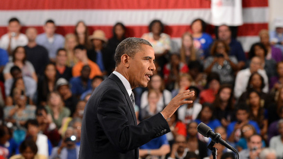 President Barack Obama speaks on the economy during a campaign event in Cleveland on June 14.