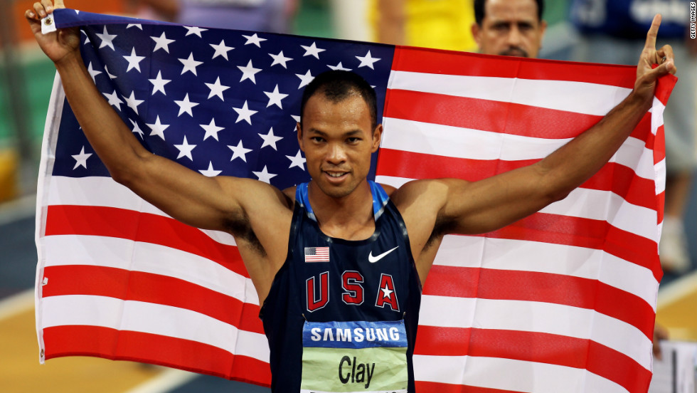 Clay returned to the top of the podium when he won the world indoor heptathlon title in Doha in 2010.