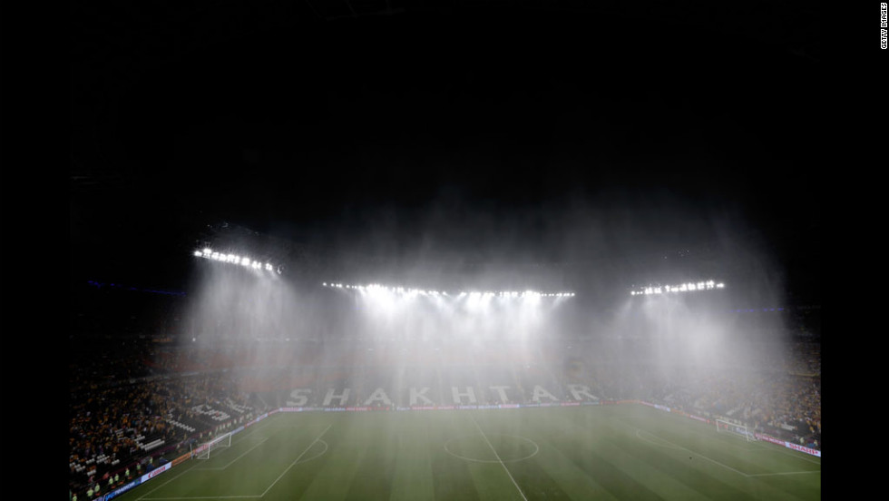 After minutes of playing, torrential rainfall caused the Ukraine vs. France game to be temporarily suspended on Friday.