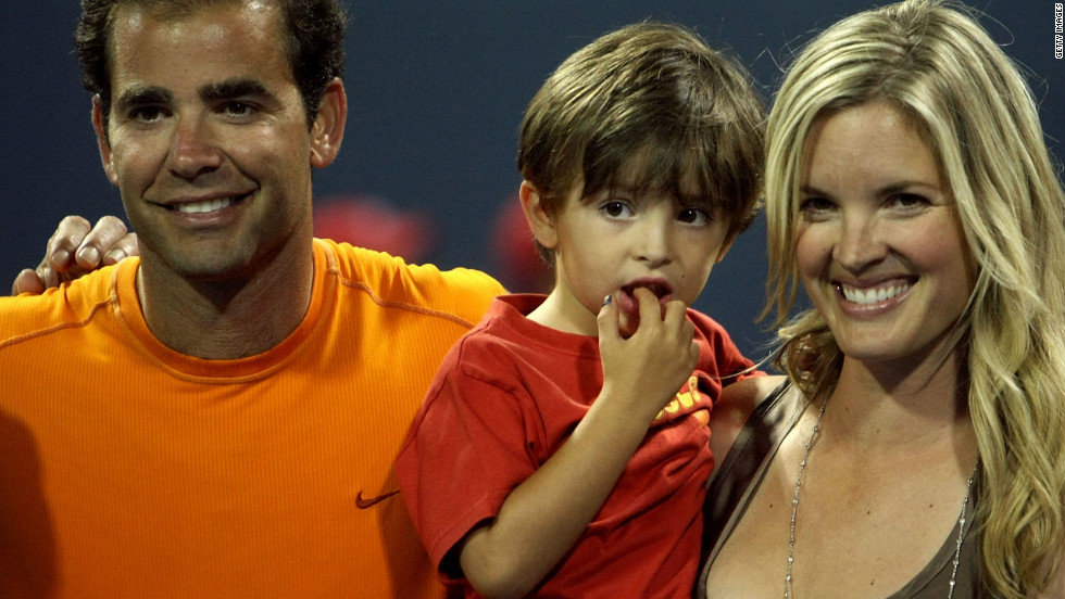 "He might be one of the game's greats but Sampras sometimes struggles to make his voice heard at home with his sons Ryan (pictured here in 2009) and Christian. ""These kids just don't listen to me! You know I tell them something to do and they do the complete opposite. It's tough being a parent these days."""