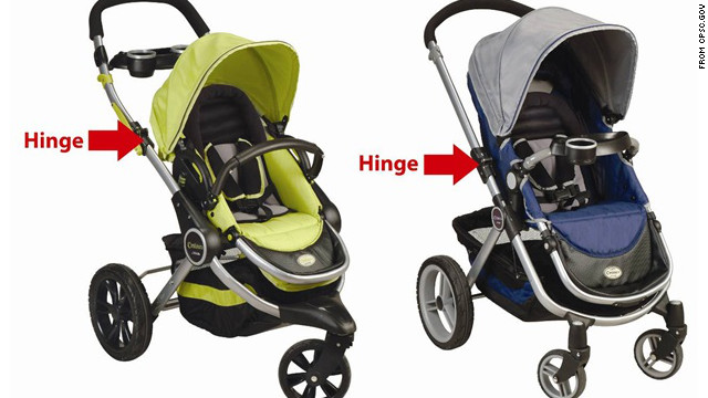 Three children suffered fingertip amputations, and two adults reported smashing their fingers in a stroller made by Kolcraft.