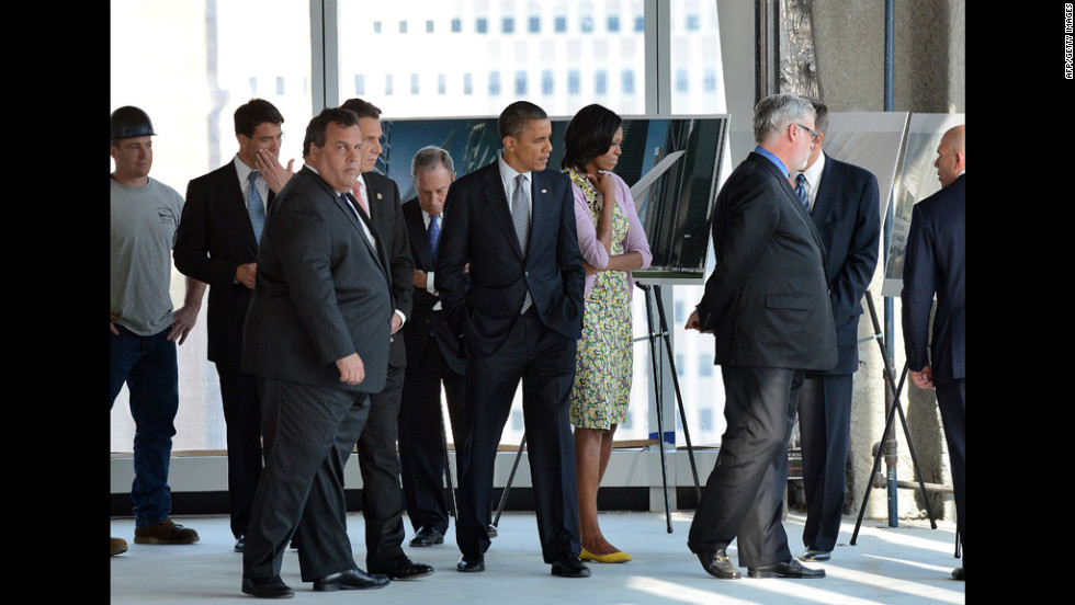 Obama and his wife, Michelle, visit the center to learn more about the progress.