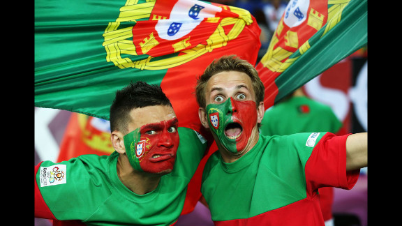 Fans of Portugal rally ahead of the team