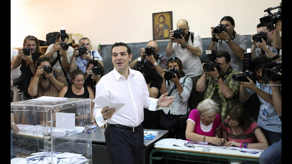 Alexis Tsipras, the candidate of Greece
