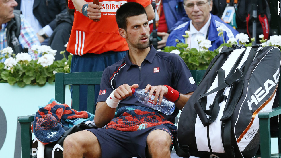 Djokovic suffered an unhappy defeat against Roland Garros king Rafael Nadal in this month's French Open final. The Serbian damaged an advertising board by whacking it with his racket.