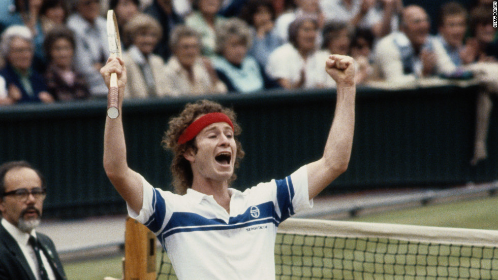 "John McEnroe is as famous for his on-court histrionics as he is for the seven grand slam titles he won. In his second-round Wimbledon match in 1981, his ""You cannot be serious!"" catchphrase was coined after a rant at a line judge. Despite the outburst, the American went on to win the first of his three Wimbledon crowns that year."