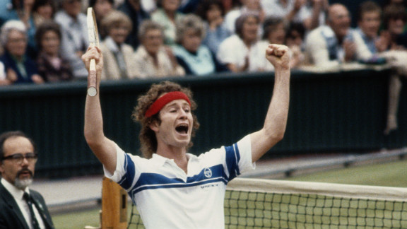 """John McEnroe is as famous for his on-court histrionics as he is for the seven grand slam titles he won. In his second-round Wimbledon match in 1981, his """"You cannot be serious!"""" catchphrase was coined after a rant at a line judge. Despite the outburst, the American went on to win the first of his three Wimbledon crowns that year."""