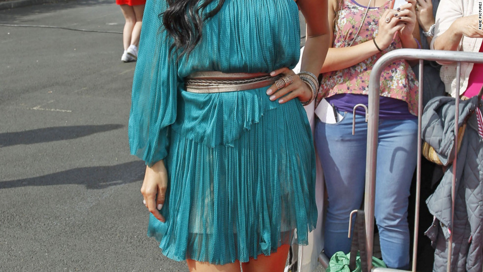 "Nicole Scherzinger attends ""X Factor"" auditions as a judge in Newcastle, England."
