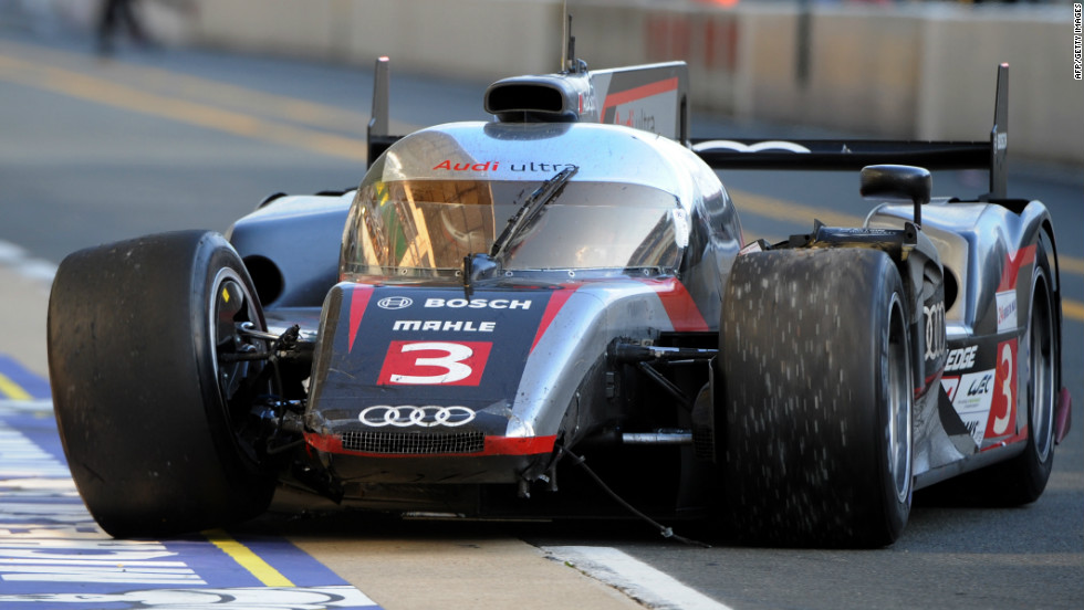 Frenchman Romain Dumas, the race winner in 2010, managed to guide his Audi back to the pitlane after surviving a crash. His team finished fifth overall.