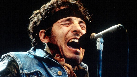 """Springsteen delivers one of his passionate performances during the 1985 """"Born in the U.S.A. Tour'""""in Los Angeles. Already a star for a decade, that album made the singer a phenomenon."""