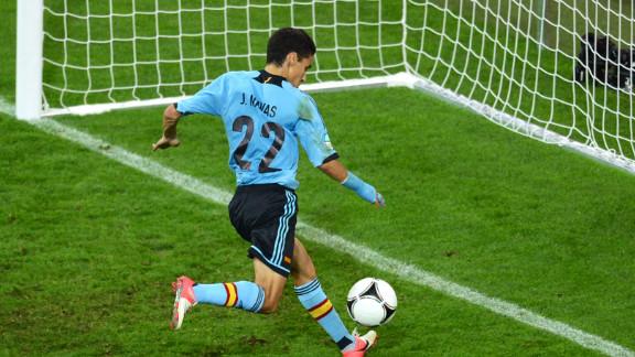 Jesus Navas scores Spain