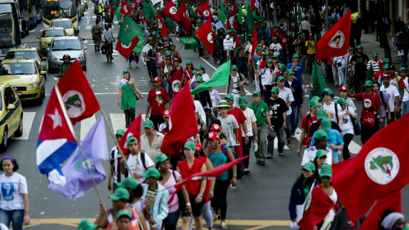 People march to protest violence against women this week in Rio de Janeiro ahead of the U.N. Earth Summit, or  Rio+20.