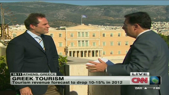 Tourism down in Greece