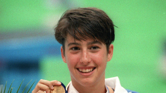 Janet Evans won the 800-meter freestyle at the 1988 Seoul Olympics.