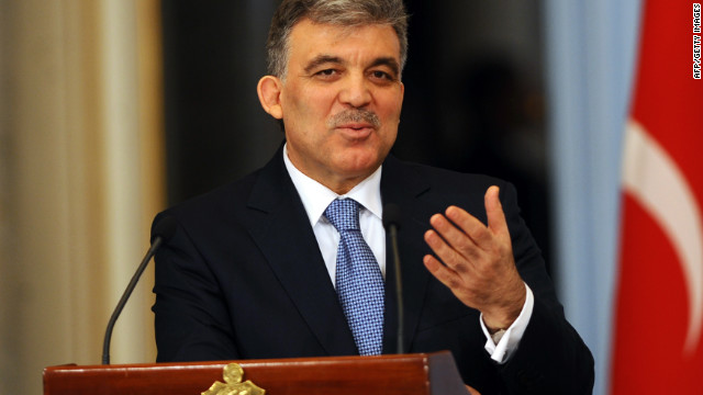 File photo of Turkish president Abdullah Gul, who condemned the attack.