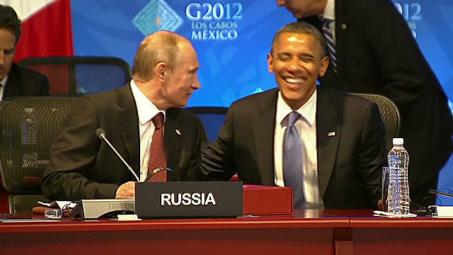 Putin, Obama share laugh at G-20