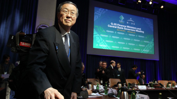Zhou Xiaochuan, governor of the People's Bank of China, at a G-20 meeting earlier this year