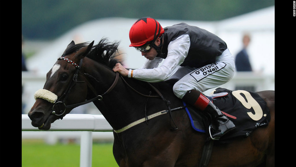 Pat Smullen riding Princess Highway wins The Ribblesdale Stakes during Ladies Day at Royal Ascot at Ascot racecourse.