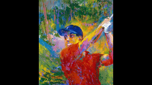 Neiman's painting of Tiger Woods.