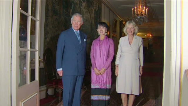Aung San Suu Kyi meets with royals
