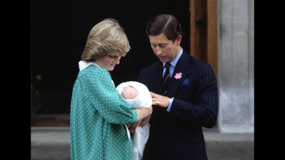 Prince Charles and Princess Diana leave St. Mary