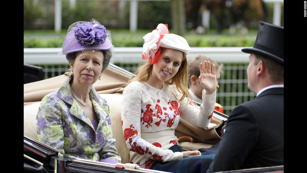 Princess Anne and Princess Beatrice attends Ladies Day.