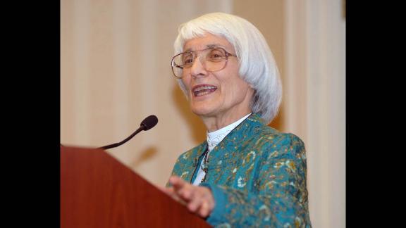 Bernice Sandler speaking in 2010.